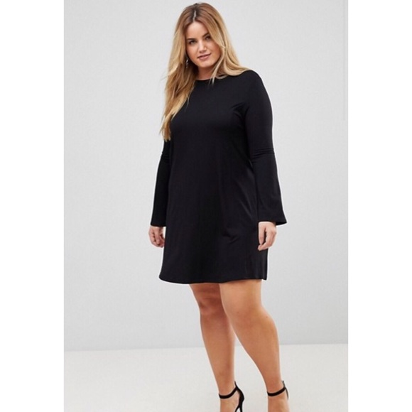 ASOS Curve Dresses | Nwt Swing Bell Sleeve Plus Size Dress | Poshmark